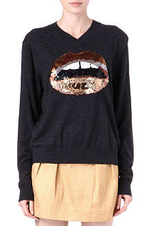 MARKUS LUPFER Lips sequinned jumper