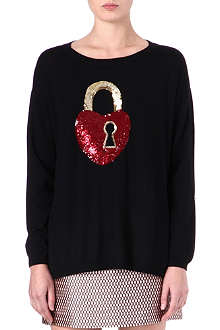 MARKUS LUPFER Key To My Heart sequinned jumper