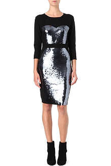 MARKUS LUPFER Bodice sequin knitted dress
