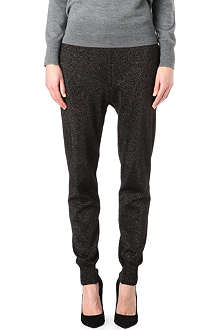 MARKUS LUPFER Plated lurex jogging bottoms