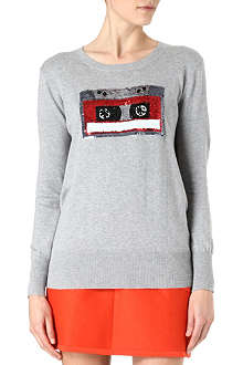 MARKUS LUPFER Sequin tape knitted jumper