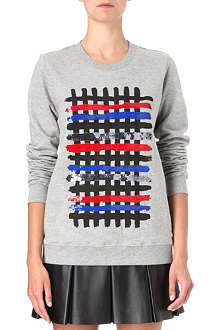 MARKUS LUPFER Brush stroke sequin sweatshirt