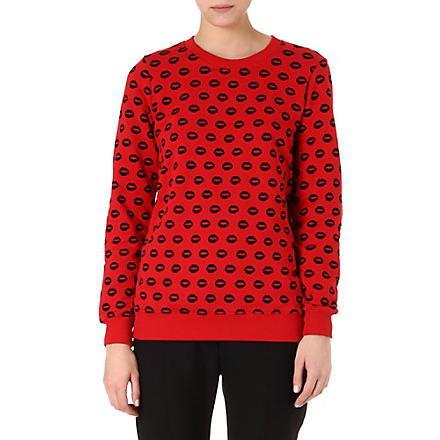 MARKUS LUPFER Smacker Lips sweatshirt (Red