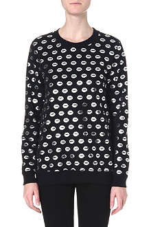 MARKUS LUPFER Smacker foil-print sweatshirt