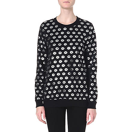 MARKUS LUPFER Smacker foil-print sweatshirt (Black