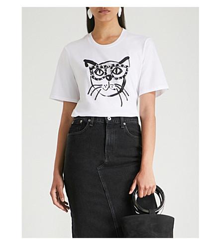Geek Cat cotton-jersey T-shirt