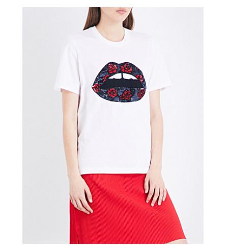 MARKUS LUPFER Alex sequinned cotton-jersey T-shirt (White