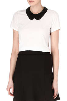 MARKUS LUPFER Sequin collar t-shirt