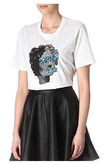 MARKUS LUPFER Censored sequin t-shirt