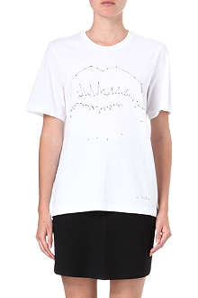 MARKUS LUPFER Dot-to-dot lips t-shirt