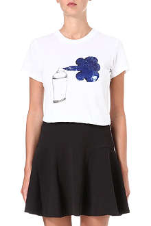 MARKUS LUPFER Spray Can sequinned t-shirt