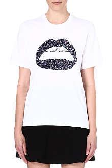 MARKUS LUPFER Lara sequin-embellished t-shirt