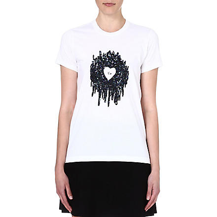 MARKUS LUPFER Kate sequin-embellished t-shirt (White