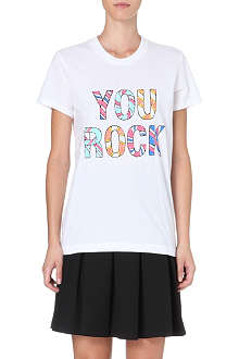 MARKUS LUPFER You Rock sequin t-shirt