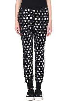 MARKUS LUPFER Smacker foil-print jogging bottoms