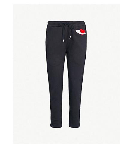 MARKUS LUPFER Daria cotton-jersey jogging bottoms (Navy