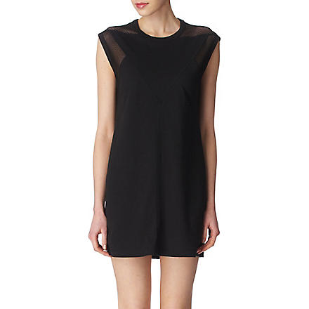 T BY ALEXANDER WANG Netted tunic (Black