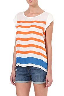 JOIE Striped silk top
