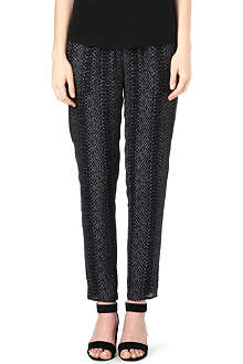 JOIE Theron reptile-print silk trousers