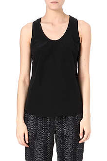 JOIE Alicia silk racer-back vest top