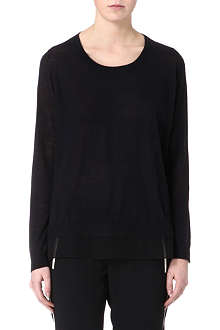JOIE Sheer-back silk jumper