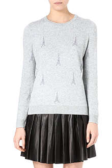 JOIE Valera Eiffel Tower intarsia knitted jumper