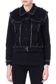 CHRISTOPHER KANE Frayed denim jacket