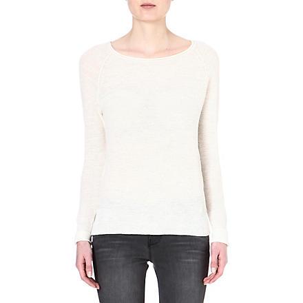 AMERICAN VINTAGE Linen-blend jumper (Pearl