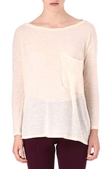 AMERICAN VINTAGE Long-sleeved pocket top
