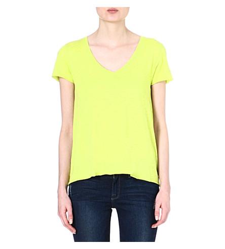 AMERICAN VINTAGE V-neck t-shirt (Neon