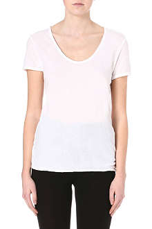 AMERICAN VINTAGE Scoop-neck jersey t-shirt