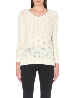 AMERICAN VINTAGE Sheer-knit scoop-neck jumper
