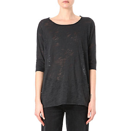 AMERICAN VINTAGE Round-neck cotton top (Black