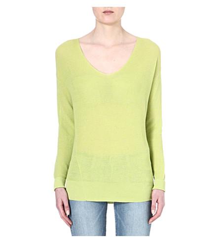 AMERICAN VINTAGE Knitted v-neck jumper (Neon