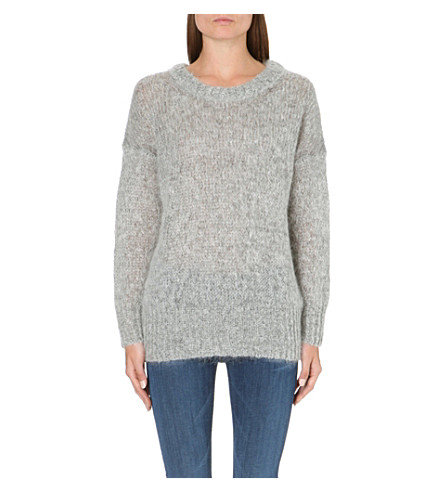 AMERICAN VINTAGE Long-sleeved knitted jumper (Hgrey