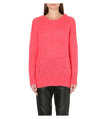 AMERICAN VINTAGE Long-sleeved knitted jumper (Pink