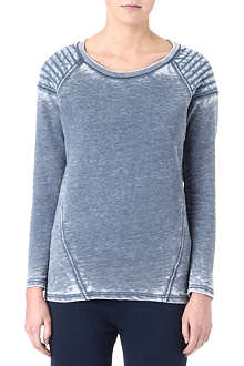 AMERICAN VINTAGE Quilted-shoulder sweatshirt