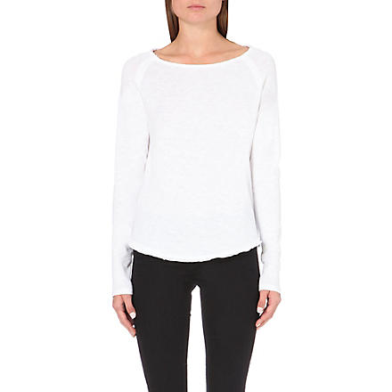 AMERICAN VINTAGE Boat-neck jersey top (White
