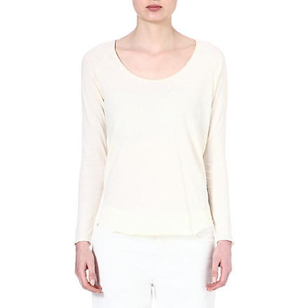 AMERICAN VINTAGE Scoop-neck cotton top (Pearl