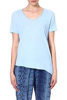 AMERICAN VINTAGE Asymmetric-hem jersey t-shirt
