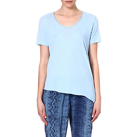 AMERICAN VINTAGE Asymmetric-hem jersey t-shirt (Crystal