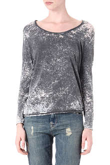 AMERICAN VINTAGE Bleached long-sleeved top