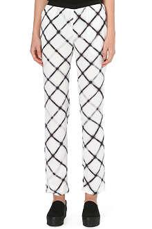 AMERICAN VINTAGE Printed crepe trousers