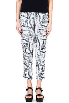 AMERICAN VINTAGE Abstract print trousers