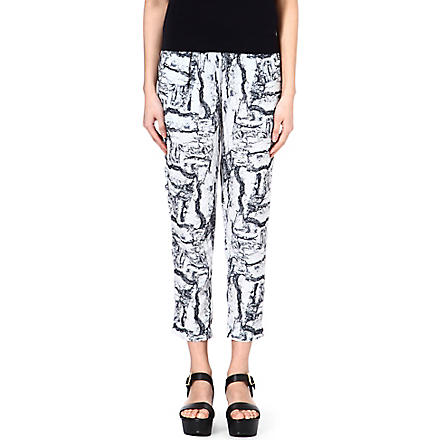 AMERICAN VINTAGE Abstract print trousers (Whiterock