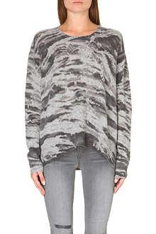 ENZA COSTA Printed cashmere jumper