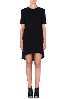ENZA COSTA Curved-hem jersey dress