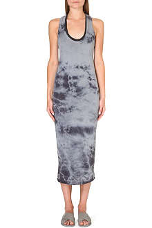ENZA COSTA Tie-dye cotton-jersey dress