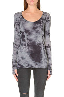 ENZA COSTA Tie-dye cotton-jersey top