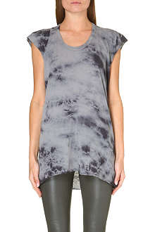ENZA COSTA Tie-dye cotton-jersey t-shirt